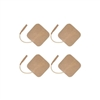 "Square Tan Cloth Electrode, 2"" x 2"" - 4 Pack"