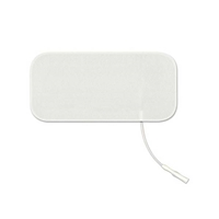"Rectangular White Foam Electrodes, 2"" x 3.5"" - 4 Pack"