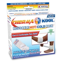 "Therma-Kool Hot Cold Pack with Freedom Wrap 4"" x 9"" Ankle/Elbow"