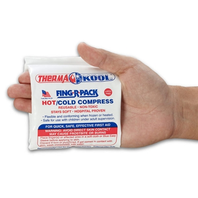 "Therma-Kool Reusable Hot Cold FINGER Pack, 4"" x 10.5"" BULK"