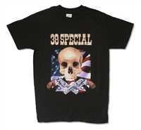 38 Special Skull Flag Guns  Tour Tee