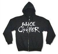 Alice Cooper Eyes Logo Zip Up Hooded Fleece