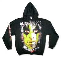 Alice Cooper Green Face All Over Print Zip Up Hooded Fleece