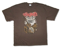 Aerosmith Distressed Guitar 07 Tour Tee