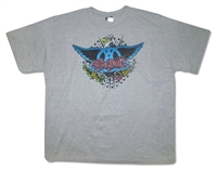 Aerosmith Rockin' Eagle on Athletic Gray Tee