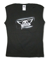 Aerosmith Dripping Logo Junior Muscle Shirt