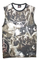 Aerosmith Vintage All Over Print Muscle Shirt