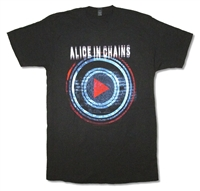 Alice In Chains Play Button Tour 30/1 Tee (Miami - San Antonio)
