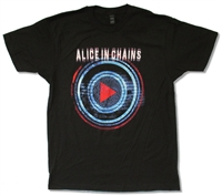 Alice In Chains Play Button Tour 30/1 Tee (Miami - Montreal)