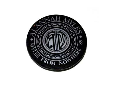 Alanah Miles Round Button
