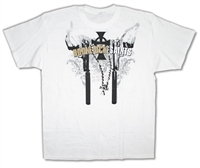 Boondock Saints Cross On Chain White Tee
