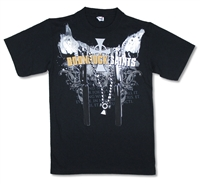 Boondock Saints Cross On Chain Black Tee