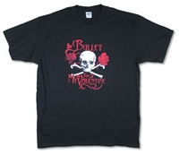 Bullet For My Valentine Skull And Roses Tee