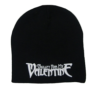 Bullet For My Valentine White Embroidered Logo Beanie