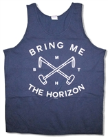 Bring Me The Horizon Hammers Navy Blue Tank Top