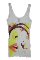 Blondie Necessary Evil Cream 30/1 Junior Tank Top