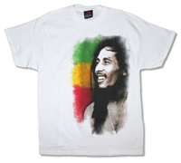 Bob Marley Stripe Side Profile Tee
