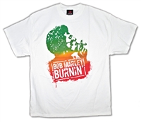 Bob Marley Tri Color Burning Tee