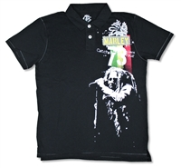 Bob Marley Patch Polo Shirt