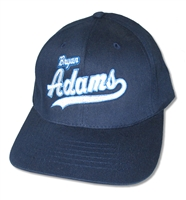 Bryan Adams Logo Navy Blue Cap