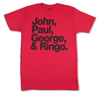 The Beatles John Paul George & Ringo 30/1 Tee