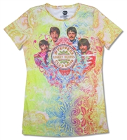 The Beatles Green Paisley All Over Print Baby Doll