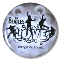 The Beatles Cirque Du Soleil Gray Button