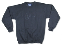 Celine Dion Black Signature Crew Neck Fleece