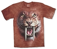 The Mountain Sabertooth Tiger Tie Dye Youth Tee