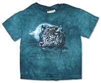 The Mountain Leopard Green Tie Dye Youth Tee