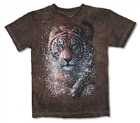 The Mountain Tiger Dark Brown Tie Dye Youth Tee