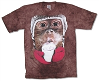 The Mountain Ape with Marshmallow Cocoa Tie Dye Youth Tee