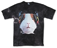 The Mountain Guinea Pig Wearing Headphones Tie Dye Youth Tee