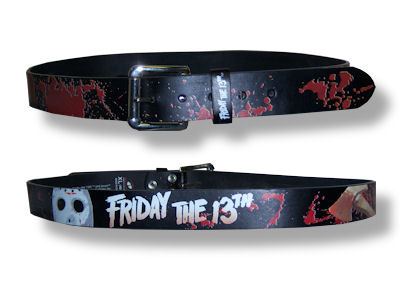 Friday The 13th Mask Leather Belt