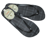Guinness Plaid Flip Flops