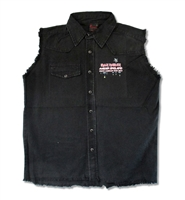Iron Maiden 2012 North American Tour Sleeveless Denim Vest
