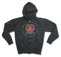 Alicia Keys AK Logo Zip Up Hooded Fleece