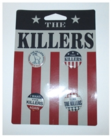 The Killers 4 Piece Button Set