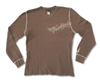 "Lynyrd Skynyrd Free Bird Long Sleeve Thermal Brown<BR><BR><font color=""red""><B>10% OFF!</B></font>"