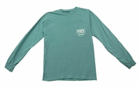 Thomas Rhett 2019 VHS Pocket Logo Aqua Long Sleeve Tee