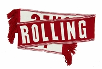 The Rolling Stones Red & White Scarf