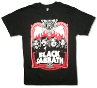 Black Sabbath Red Flames Tee