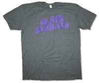 Black Sabbath Purple Logo on Gray Tee