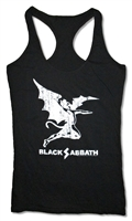 Black Sabbath Creature Distressed Racerback Tank Top