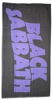 Black Sabbath Purple Logo Beach Towel