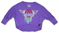 Aerosmith Wings Youth Cropped Long Sleeve Tee