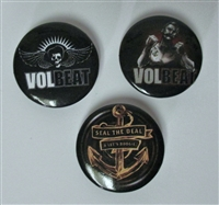 Volbeat Seal the Deal 3 Piece Button Set