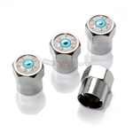 Eyeball Metal Chrome Tire Valve Stem Caps