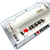 I Love Jesus Cross Christian Chrome License Plate Tag Frame for Auto-Car-Truck
