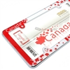Canada Maple Leaf Flag Chrome License Plate Tag Frame for Auto-Car-Truck